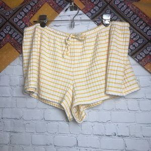 Yellow and white old navy pajama shorts